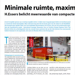 H.ESSERS BELICHT MEERWAARDE VAN COMPACTE OPSLAGSYSTEMEN