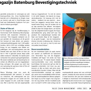 BATENBURG BEVESTINGSTECHNIEK VERHOOGT EFFICIËNTIE