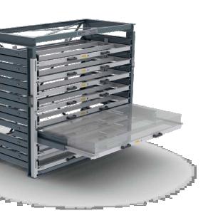 Thiel StorageSystems: uittrekbare opbergrekken voor magazijnen